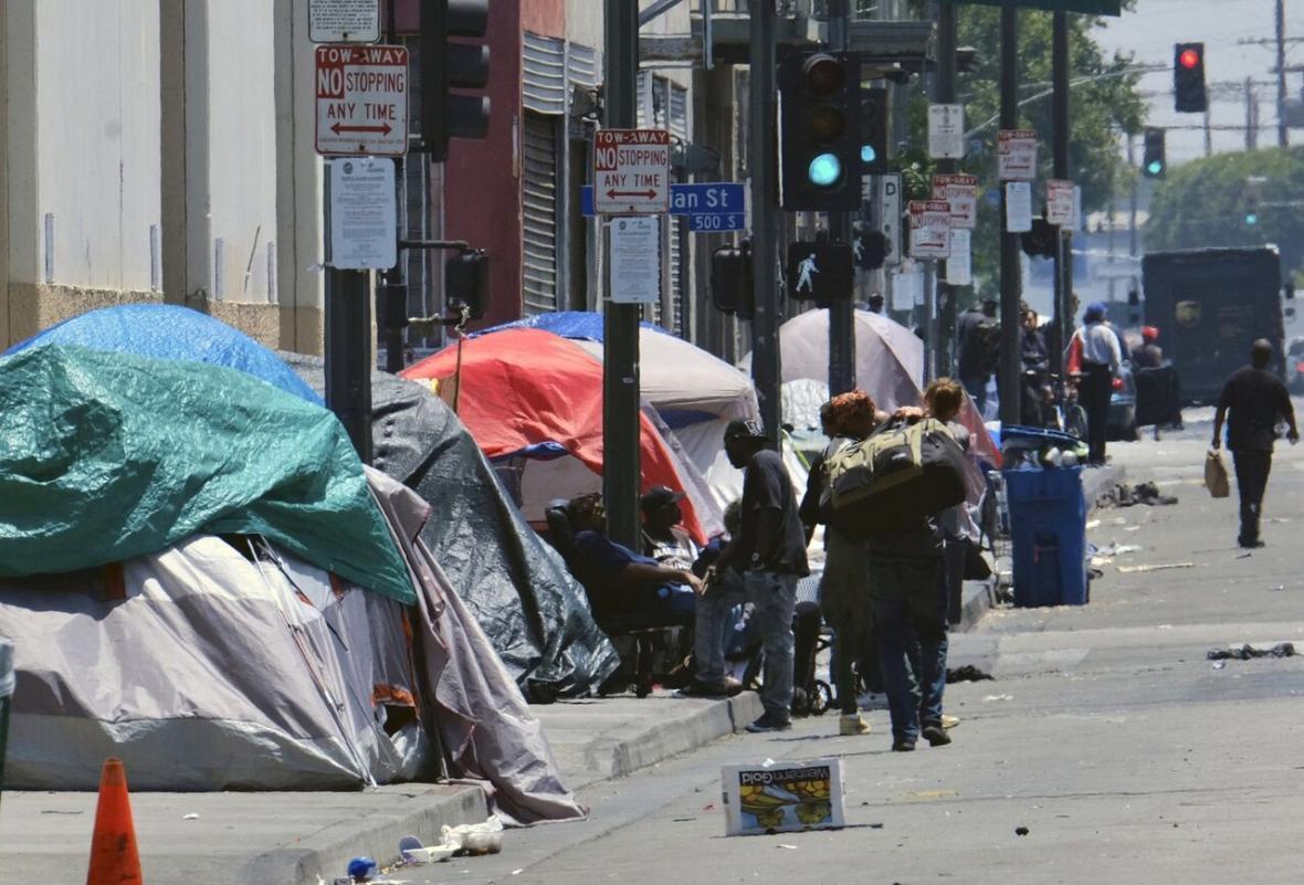 رشد 2.7 درصدی جمعیت بی خانمان ها در کالیفرنیا
