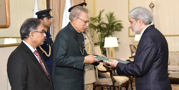 تقدیم استوارنامه سفیر جدید ایران به رئیس جمهور پاکستان